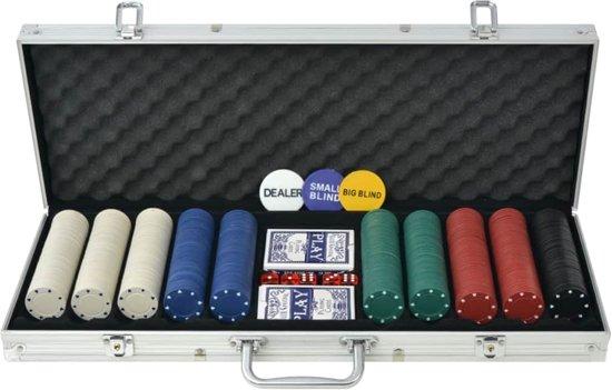 Afbeelding van vidaXL Pokerset met 500 chips aluminium speelgoed