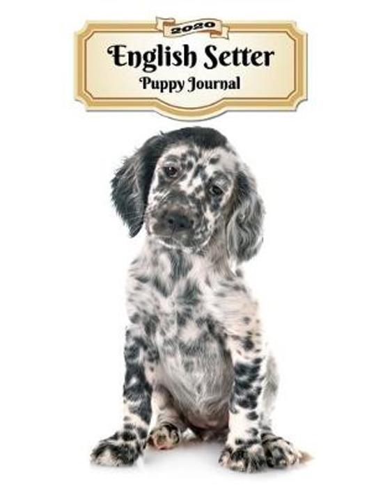 2020 English Setter Puppy Journal: Weekly Planner - 12 Months - 107 pages 8.5 x 11 in. - Calendar - Diary - Organizer - Vaccinations - Vet Appointment