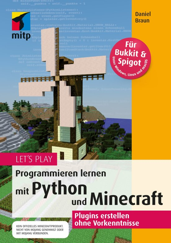 Boek cover Lets Play. Programmieren lernen mit Python und Minecraft van Daniel Braun (Onbekend)
