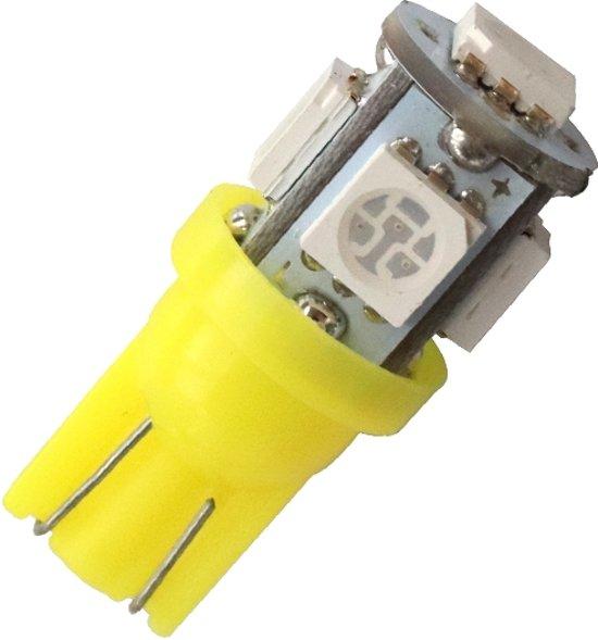 T10 - 24 volt - 5 LED - 5050 SMD - ORANJE