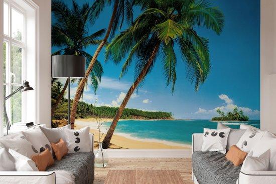 W&G Behang Tropisch eiland - 8-delig fotobehang  - 366 × 254 cm - no. 15914