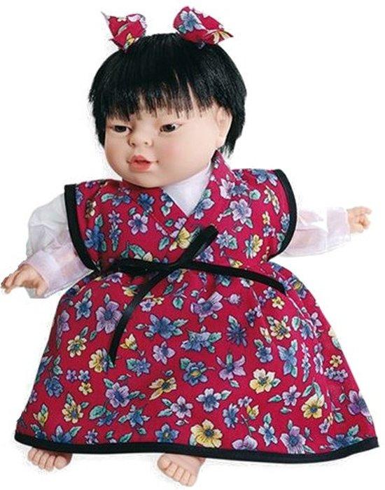 Rood Met Zwart Jurkje.Bol Com Berjuan Pop Meisje In Chinees Jurkje 38 Cm Rood Zwart