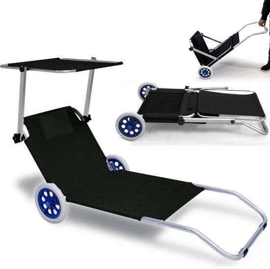 Strandstoel Met Wieltjes.Inklapbare Strandstoel Met Wielen Ligbed Kreta