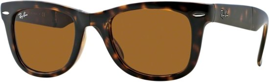 c9e0cda963ad96 Ray-Ban Folding Wayfarer RB4105 - Zonnebril - Light havana  Bruin - 50 mm