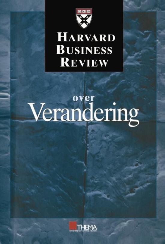 Harvard business review reeks Harvard business review over verandering