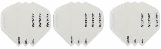 3 sets (9 stuks) Super Sterke Witte Poly XS100 - flights - dartflights