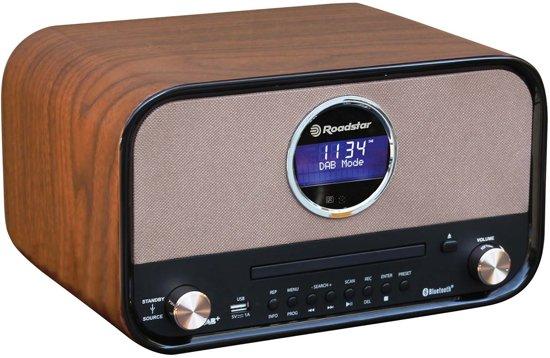 Roadstar HRA-1782D+BT DAB+ Retro Radio & CD Speler
