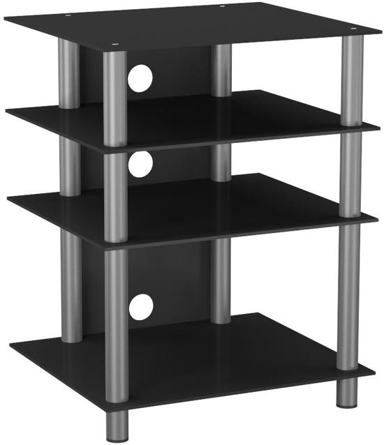 tv meubel kast hifi meubel bilus zilver zwart. Black Bedroom Furniture Sets. Home Design Ideas