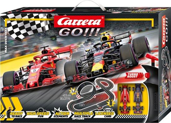 Carrera GO!!! Max Overtake - Racebaan inclusief Max Verstappen
