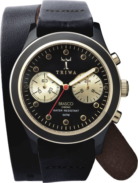 Triwa DCAC108 Ebony twist brasco chrono - Horloge - 38 mm - Zwart