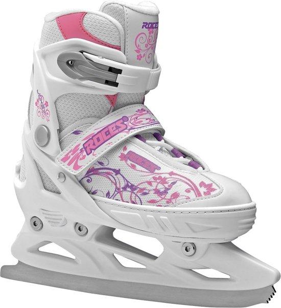 ijshockeyschaatsen Jokey meisjes wit/roze maat 26-29