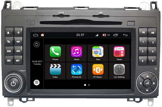 W068 S200 ANDROID 8 NAVIGATIE MERCEDES VITO VIANO SPRINTER DVD CARKIT USB 32GB