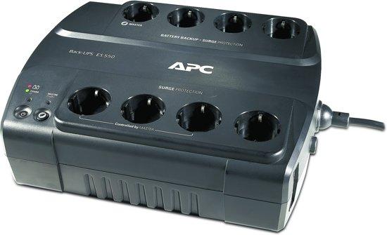 APC Back-UPS BE550G-GR - Noodstroomvoeding / 8x stopcontact / USB / 550VA