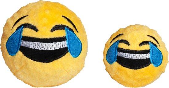 FabDog Faball Crying Laughing Emoji - Hond - Speelgoed - Maat M: 10,2 cm - Geel