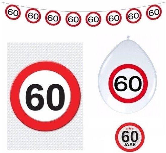 60 jaar verkeersbord versiering basis set for Decoratie 60 jaar