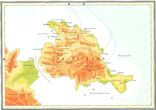 Kaart Atlas van het bijbelse continent - Van Pesach tot Pasen