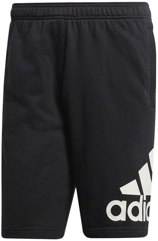 adidas Essentials Chelsea Big Logo Jogging Short Heren  Sportbroek - Maat S  - Mannen - zwart/wit