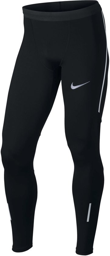Nike Power Tech Tight Sportlegging Heren - Black/(Reflective Silv)