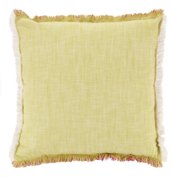 Dutch Decor Ganes - Sierkussen - 45x45 cm - lime