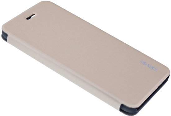 db29079f6dc Devia Flip Cover Luxe Hoesje Met Pasje Houder Chanmpagne Goud voor de iPhone  6S Plus/