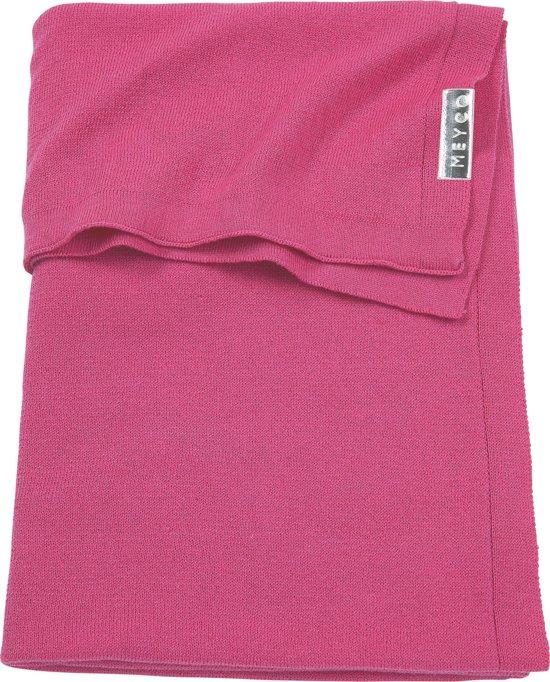 Meyco ledikantdeken Knit basic - 100x150 cm - bright pink