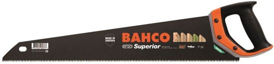 Bahco Handzaag met rubberinleg in grip. Dubbel Getand 22 Hardpoint