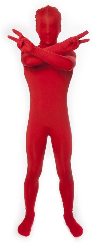 Rode morphsuit voor kinderen 6-8 jaar (128)