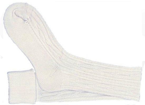 Oktoberfest - Oktoberfest - witte tiroler kousen / sokken voor volwassenen 43-46
