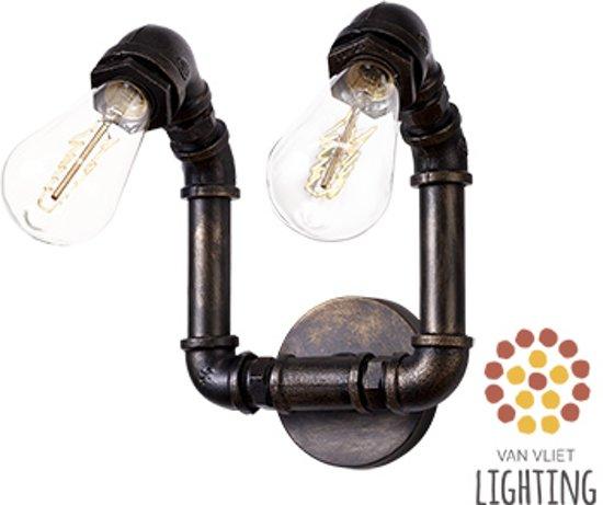 Industriële Waterleiding Wandlamp