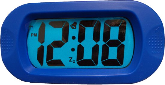 Balance Time LCD - Wekker - Rubber - Kobalt Blauw