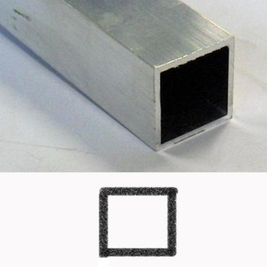 Roval Aluminium kokerprofiel 40 x 40 x 2mm