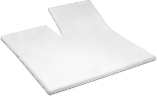 Cinderella - Hoeslaken voor Topper met split (tot 15 cm) - 160x200 cm - White