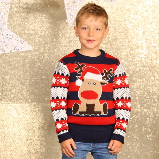 Kersttrui Maat 116.Bol Com Kerstmis Trui Kerst Trui Voor Jongens Met Rendier Met