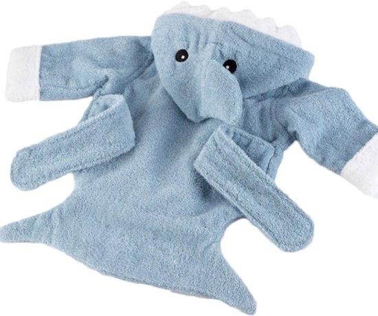 Badjas voor baby (3-12maanden) - Blauwe Haai