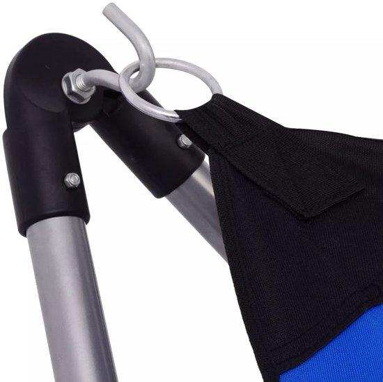vidaXL Opvouwbare hangmat blauw