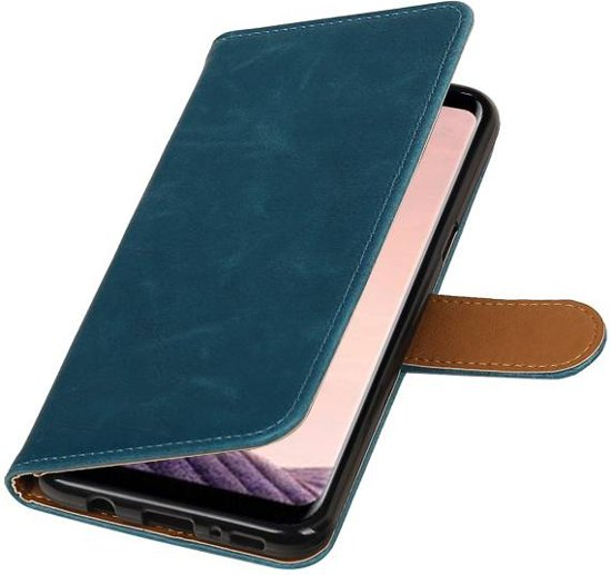 Wicked Narwal   Premium TPU PU Leder bookstyle / book case/ wallet case voor Samsung Galaxy S8 Plus Blauw