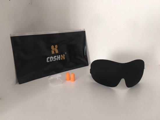 NIEUWSTE MODEL! CoshX® Slaapmasker 3D de luxe set, bestaande uit ; 3d slaapmasker, luxe opbergetui en oordoppen in case. Perfecte pasvorm tegen licht | Oogmasker set