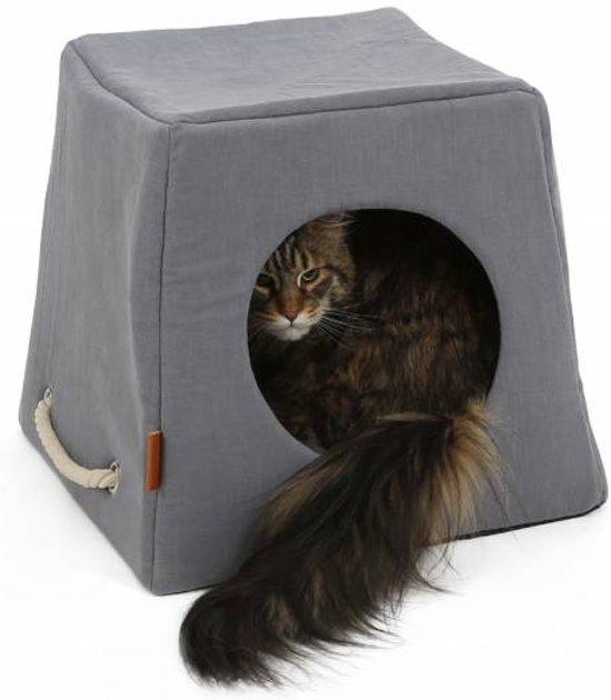 Leuke Kattenmand en Kattenhuis in Blauw en Grijs