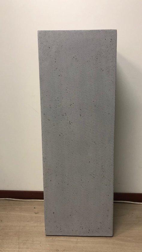 Zuil betonlook grijs 80cm, voor binnen en buiten