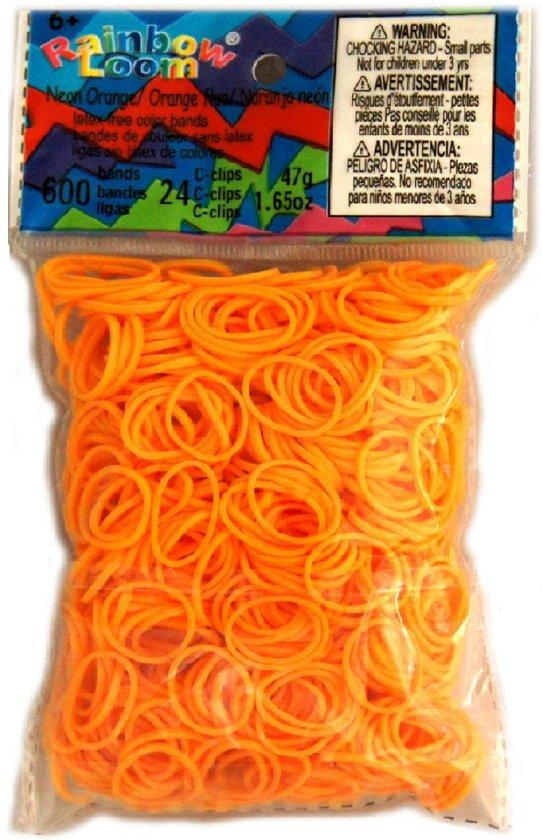 Rainbow Loom Elastiekjes - Neon Orange - 600 stuks