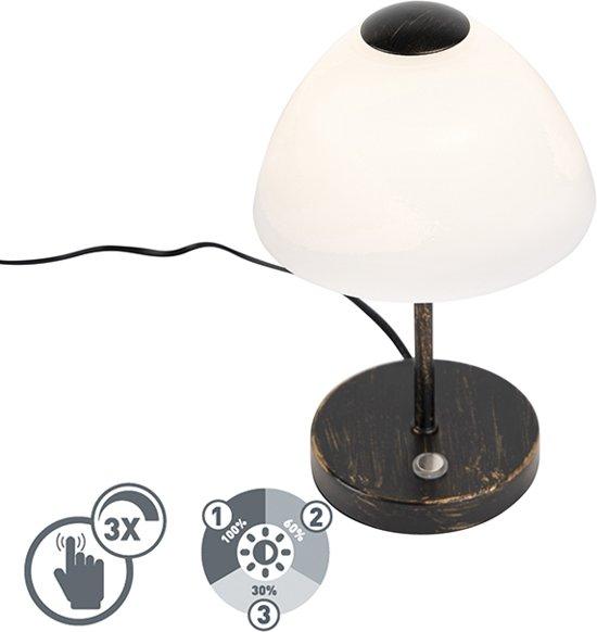 Trio Leuchten - Touch tafellamp - 1 lichts - H 240 mm - Zwart