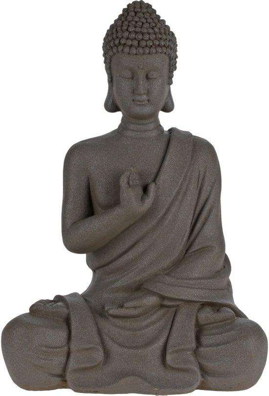 Boeddha Beeld Beton.Boeddha Beeld Zittend 30 Cm Beton Tuinbeeld