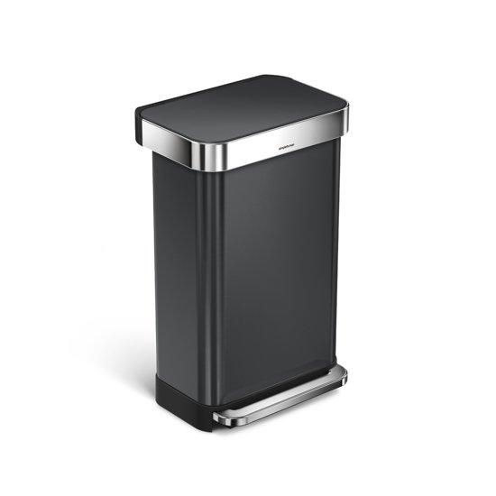 Simplehuman Rectangular Liner Pocket Rvs 45 liter