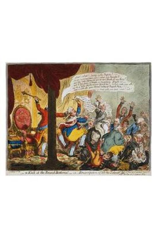 Political Cartoon 1805 King George III Broad Bottoms by Gillray Journal