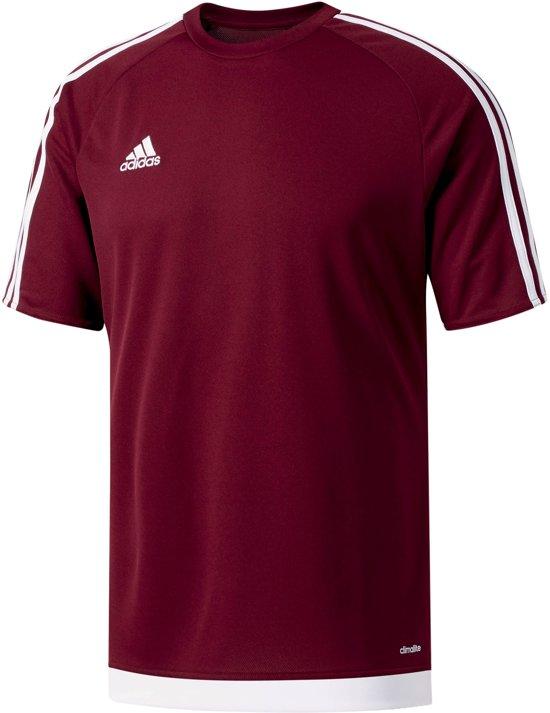 adidas Estro 15 Sportshirt - Maat 152  - Unisex - rood/wit