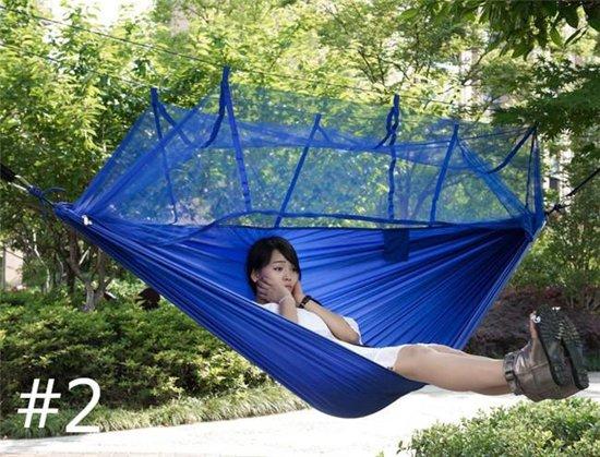Hangmat met muggennet blauw - moskito