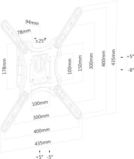 Flat Screen Wall Mount (1 pivot & tiltable)