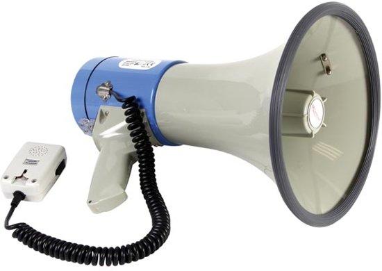 Velleman MP25SFM megafoon 25 W Blauw, Grijs