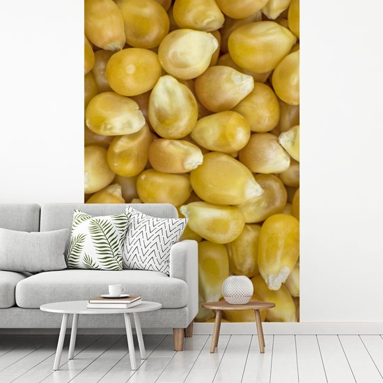Fotobehang vinyl - Close-up van suikermaïs breedte 270 cm x hoogte 400 cm - Foto print op behang (in 7 formaten beschikbaar)