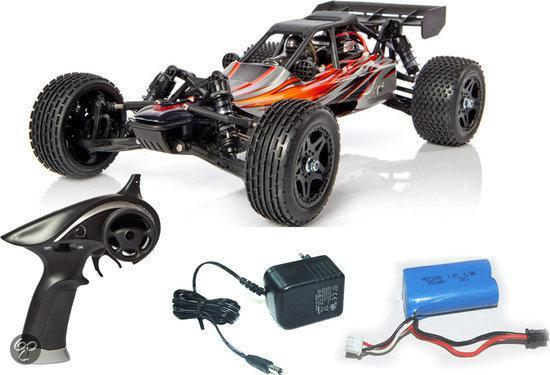 Yellow-RC Dune Racer Buggy 1/12 2,4GHZ RTR (7.4V accu en lader) Rood YEL11010
